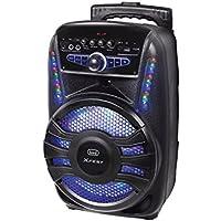 Trevi XFEST XF 450 Altoparlante Amplificato Portatile con Trolley, Mp3, USB, Bluetooth e Batteria Integrata, Karaoke Party Speaker con Microfono Incluso