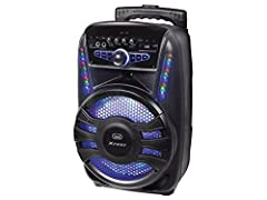 Idea Regalo - Trevi XFEST XF 450 Altoparlante Amplificato Portatile con Trolley, Mp3, USB, Bluetooth e Batteria Integrata, Karaoke Party Speaker con Microfono Incluso
