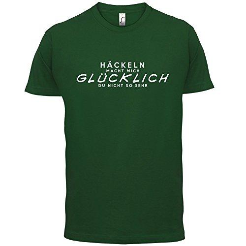 Häckeln macht mich glücklich - Herren T-Shirt - 13 Farben Flaschengrün