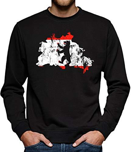 Touchlines Merchandise Berlin Hauptstadt Bundesland Sweatshirt Pullover Herren XXXL Schwarz