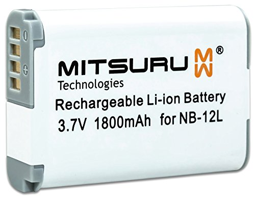 Mitsuru® batería para Canon NB-12L NB12L recambio para Canon PowerShot G1 X Mark II N100 Canon Legria Mini X Canon VIXIA Mini X