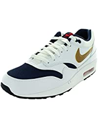 factory authentic 10db6 3b03e Nike 2015 Q3 Men Air Max 1 Essential USA Fashion Sneaker chaussures blanc  537383-127