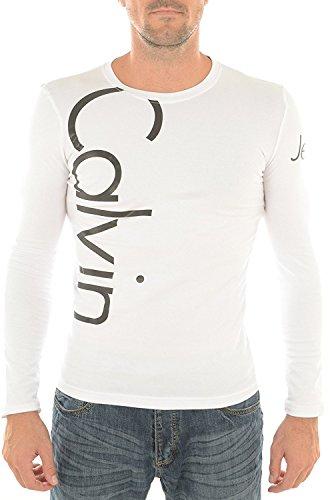 CALVIN KLEIN T-shirt Manica Lunga Girocollo modello CMP53U colore White (L)