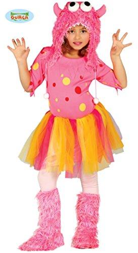 rosa Monster - Kostüm für Mädchen Gr. 98 - 146, Größe:128/134