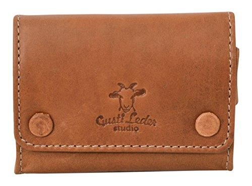 """Portatabacco Gusti Leder studio """"Lutz"""" porta sigarette cartine accendino vera pelle vintage classico naturale marrone chiaro 2T17-22-5"""