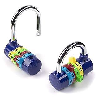 Combination Padlock Gym Lockers 4 digit luggage lock sports bag small padlocks heavy duty - Set of 2