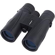 Suplyss Prismáticos Portátil 8X42 Binoculares Distancia Ajustable para Viaje, Camping al Aire Libre, Observación de Pajaros - Negro