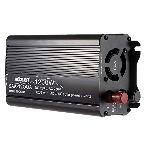 Soolar SAA-1200A Solar Power Inverter (Black)