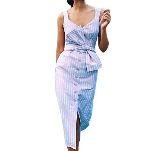5a614ad446 MERICAL Más el tamaño de la Moda de la Mujer Casual Estilo de Vacaciones de  Rayas