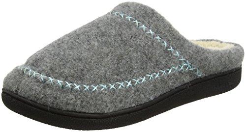Dearfoams Damen Felt X-Stitch Clog Pantoffeln, Grau (Light Heather Grey 00071), 38/39 EU