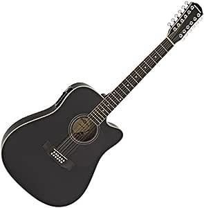 Guitare Electro-Acoustique Dreadnought 12 cordes par Gear4music Black