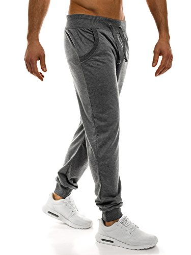 OZONEE Uomo Jogging Pantaloni Tempo Libero Sport Pantaloni Jogging Jogger Pantaloni da ginnastica Fitness STREET STAR 70065 GRIGIO SCURO _ BBG -7001x