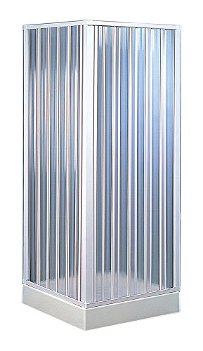 Forte BKP100001 box doccia angolare riducibile 80 x 80 x 185 colore bianco pastello