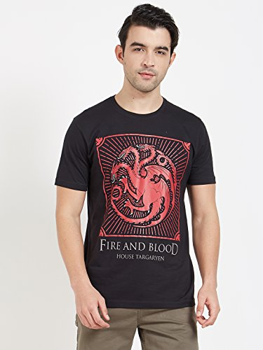 Redwolf House Targaryen Shield HBO® Licensed Game Of Thrones Half Sleeve Cotton T-shirt