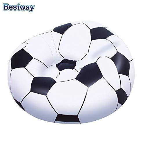 Bestway Aufblasbarer Sessel Fussball Sitzsack Relaxsessel Luftsessel Fernsehsessel Ball