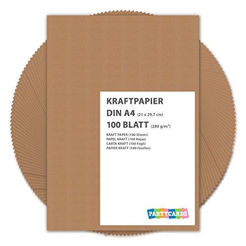 r Kraftkarton DIN A4 280 g/m² Naturkarton Hochwertige Qualität Bastelpapier Kartonpapier Fotokarton braun farbig Hochzeit Karten (Große Weihnachts-geschenk-boxen Mit Deckel)