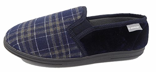 Dunlop Herren Hausschuhe, Blau - Navy Woven - Größe: 43 EU