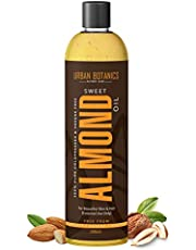 UrbanBotanics® Pure Cold Pressed Sweet Almond Oil for Hair and Skin, 200ml (Odorless)