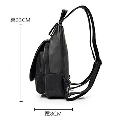 Mini Rucksack Gewaschen Leder Mode Kleinen Rucksack,Black Black