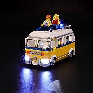 BRIKSMAX Kit di Illuminazione a LED per Lego Creator Surfer Van Giallo, Compatibile con Il Modello Lego 31079 Mattoncini…  LEGO