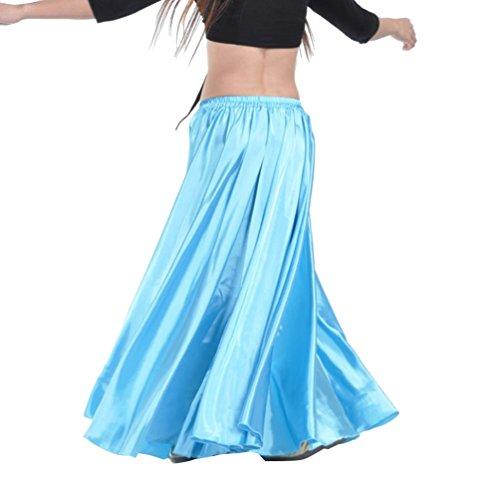 YouPue Damen Tanzkostüm Bauchtanz-Kostüm sexy High-End-Dual Rock Bauchtanz Leistungen große Rock Komfort (nicht enthalten Gürtel) Gürtel Kostüme Bauchtanz Taille Kette blauer See