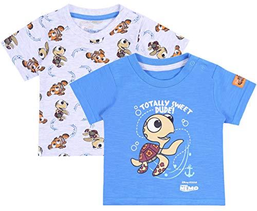 2X Blaugraues Hemd, Nemo Disney T-Shirt 18-24 m 92 cm (Nemo Ausschnitt)