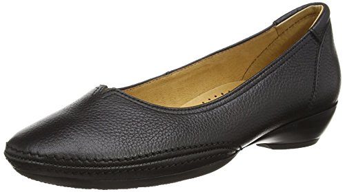 Gabor Shoes Damen Casual Geschlossene Ballerinas, Schwarz, 42.5 EU Black Patent Mary Jane