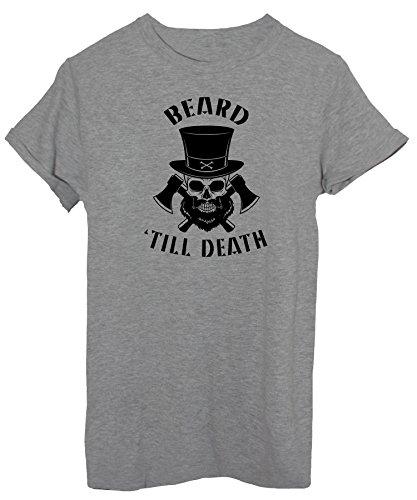 iMage T-Shirt Mit Dem Bart Bis Zum Tod - Street Baby-S - Grau