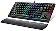 Redragon K588 RGB Backlit Mechanical Gaming Keyboard with Programmable Keys Macro Recording Blue Switches Comp