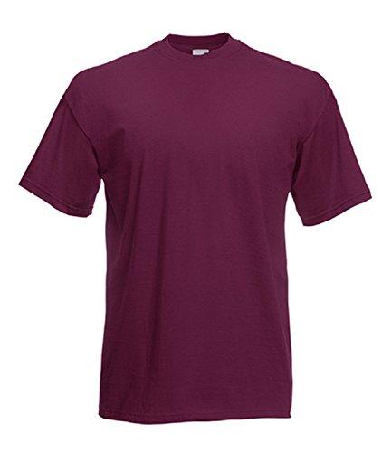Fruit of the Loom Herren T-Shirt im 5er Pack in allen Farben und Größen S-5XL Burgund