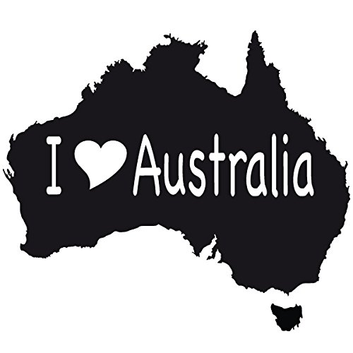 Wadeco I Love Australia Wandtattoo Wandsticker Wandaufkleber 35 Farben verschiedene Größen, 64cm x 56cm, mint