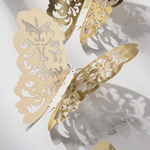 12 Stück 3D Schmetterlinge Wandsticker,Wandaufkleber Wanddekoration Wand Aufkleber, Wanddeko für Aufkleber Kühlschrankaufkleber Zimmer Kindergarten Klassenzimmer Büros (A) -