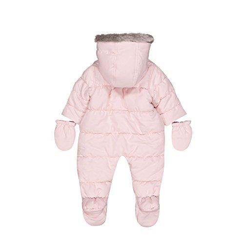 Mothercare Baby-Mädchen Schneeanzug Graphic Snowsuit Fleece, Pink (Pale Pink), 86