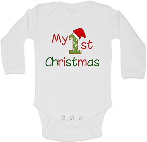 My First Christmas - Body de manga larga personalizable para bebé, di