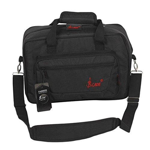 Fenteer Klarinettenkoffer Koffer Etui Handtasche, Wasserdicht - Schwarz