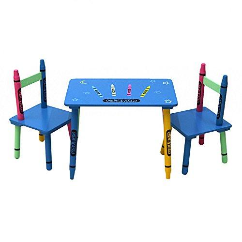 Oypla Kinder Holzkreide Tisch und Stühle Set Kinderzimmer Möbel