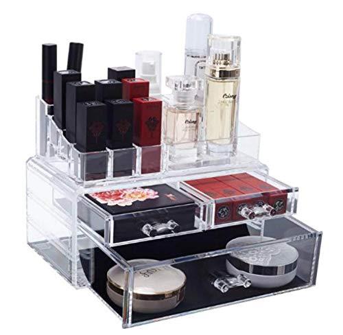 Boîte de rangement cosmétique de maquillage Boîte de rangement cosmétique grande capacité accessoires de tiroir avec haute transparence/durabilité de la trousse cosmétique