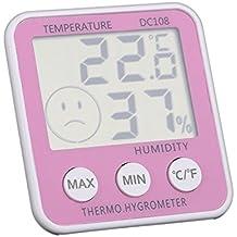 Termostato digital para habitación del bebé y casa | Temperatura y Humedad Termómetro higrómetro inalámbrico alerta para niños guardería | interior | | brasero