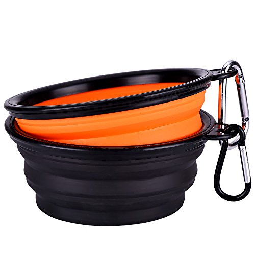 mudder-collapsible-travel-silicone-dog-bowl-portable-pet-food-water-bowl-set-of-2