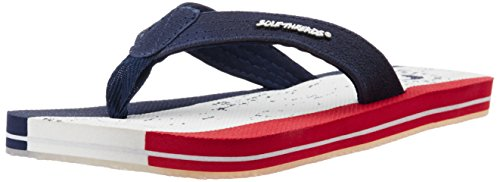 Sole Threads Men's Trike Navy Flip Flops Thong Sandals - 9 UK/India (43 EU)(8911104458)