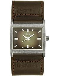 Guess Herren-Armbanduhr XL Analog Leder W10190G1