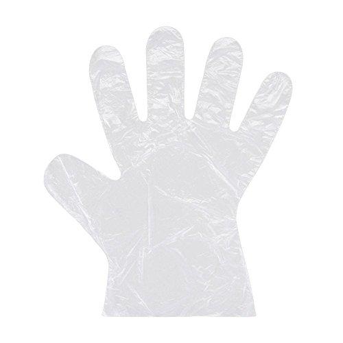 Premier guanti in polietilene, dispenser di cartone, trasparente, misura media, confezione da 100 - Trasparente Monouso Guanto Dispenser