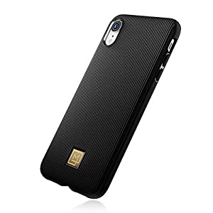 Spigen iPhone XR Case [LA MANON Classy] Premium Silicone Cover, Phone Case with Chic Design and Easy Grip Compatible with iPhone XR (2018) - Black
