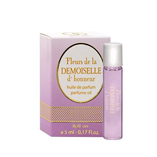 Parfüm Eau De Parfum Miniatur (Fleurs de la DEMOISELLE d'honneur Parfüm Öl Rollerball für Damen - 5 ml Roll-on Miniatur + Beste Hochzeit Parfüm Geschenkidee + Aroma des wundervollen Festes)