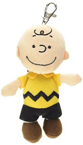 Peanuts 5 Zoll offizielle Erdnüsse Charlie Brown Plüsch Rucksack Clip für Alter 1 Jahr + (Charlie Brown Plüsch-spielzeug)