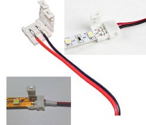 cable adaptador de 5 tiras PCB a conector tira LED 3528 individual, Sólo con un conector de tira en un extremo.