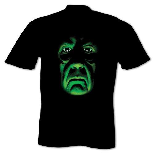Herren Gruseliges Zombiegesicht Halloween T-Shirt Größe XXL Schwarz -