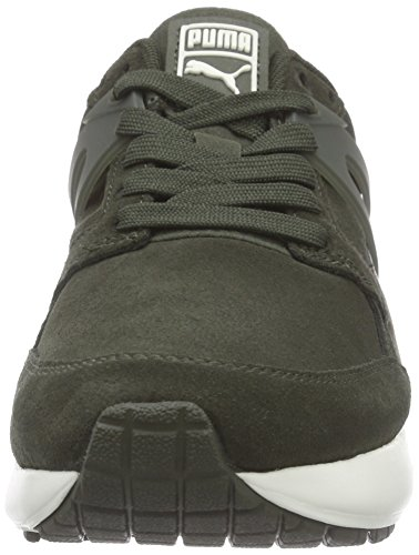 Puma ARIAL SUEDE, Sneakers basses mixte adulte Vert - Grün (forest night-marshmallow 03)
