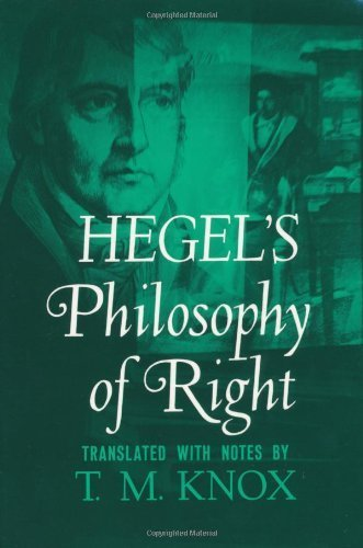 Philosophy of Right (Galaxy Books) by Hegel, G. W. F. (1968) Paperback