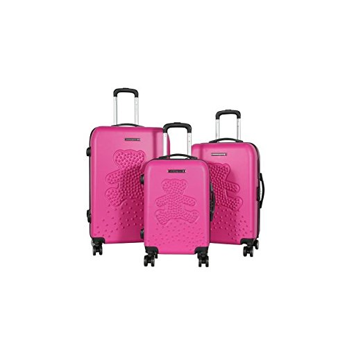Lulu castagnette set de 3 valises rigide abs 8 roues...